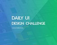 Daily UI Challenge (Work in progress)