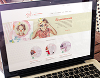 Lovely Cards logo and website design.