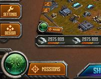 military Ipad game HUD