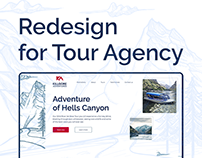 Redesign for a Tour Agency