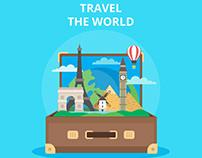 Travel the world - vector illustration