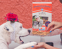 Operation Drool Overload Dog treat package design