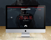 UNCHARTED 4 Landing Page