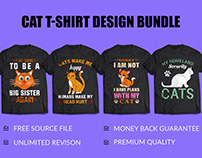 Cat T Shirt Design Bundle