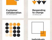 Posterdesign Principles of agile Working 2