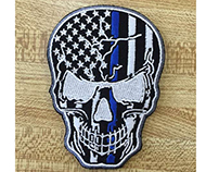 PATRIOTICALLY DANGEROUS SKULL EMBROIDERY DESIGN
