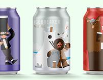 Bottoms up beer labels