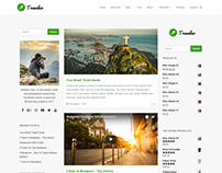 Blog Dual Sidebars - Traveler WordPress Theme