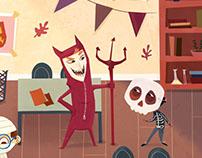 Spooky classroom