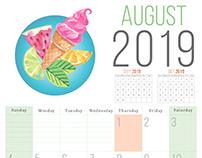 2019 Calendar Design Process