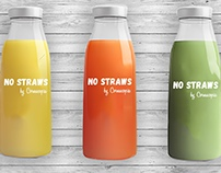 Brand Identity for No Straws, by Cornucopia