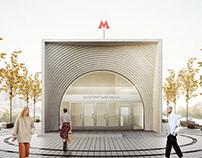 Nagatinsky Zaton Subway Station Concept