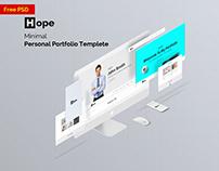 Free | Hope | minimal Personal Portfolio Template