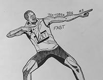 Inktober 2016 day 1 - Fast