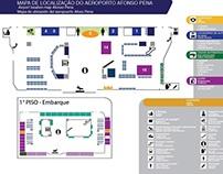 Sinalização do Aeroporto -  Curitiba-PR