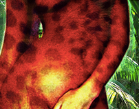 Leopard digital body art