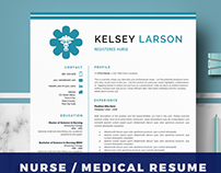 Nurse resume template for Ms Word and Apple Pages