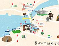 2018苔客上岸-正濱港町共創藝術節 | 展覽地圖插畫