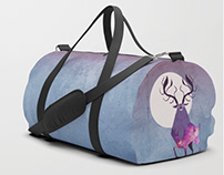 Society6 Duffels - Product Design