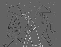 In the mood of rain.
