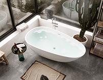 Minimal Bathroom - CGI