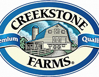 Creekstone Farms Logo Mark Illustrated by Steven Noble