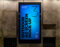 Outdoor Advertising Screen Mock-Ups 8