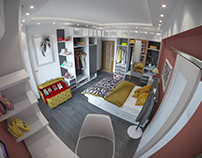 Young Lady's modern bedroom