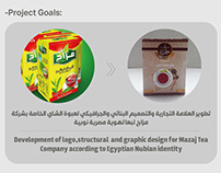 Mazag tea packaging design