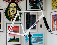 Wittson custom Mondrian inspired road race ti frame 188
