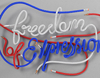 Freedom Of Expression - Typography