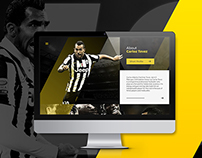 Carloz Tevez Official Website Concept