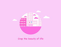Crop the beauty of life