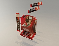 Nescafe metal stand