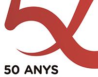 50 anys d'Escola Catalana - Logo design