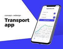Transport app - concept redesign