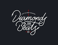 Diamonds and Beats - Lettering // 3d Cover Artwork