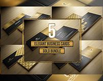 5 Elegant Gold Bussiness Card