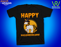 Happy Halloweenicorn t-shirt design