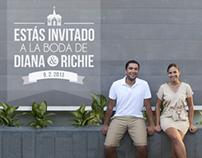 Invitación Boda Diana y Richie