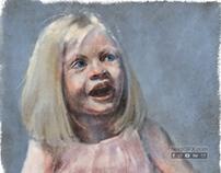Digital Painting - portrait of a little girl