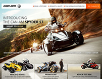Can Am Spyder Web Design (Pitching)