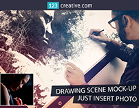 Hand drawn sketch mockup - drawing image mockup