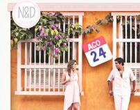 Wedding Site for Natalie & Diego