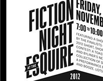 Esquire: Fiction Night Invite