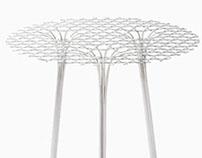 Collection Bamboo Steel le tissage métallique par Nendo