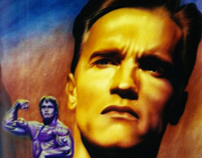 Airbrush Portrait - Arnold Schwarzenegger