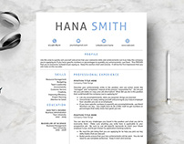 Professional Design 4 Pages Resume Template