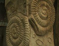 Hafod Coal Mine Carved Oak Markers Posts