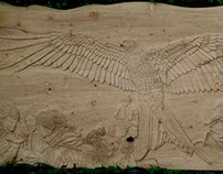 Nant yr Arian Carved Ash Seating Commission